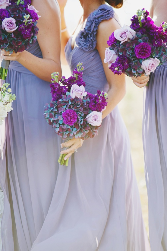 Lavender wedding a circular life for Purple ombre wedding dress